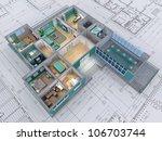 cross section of residential...   Shutterstock . vector #106703744