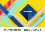 hipster modern geometric... | Shutterstock .eps vector #1067043425