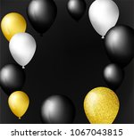 black  white  gold and with... | Shutterstock .eps vector #1067043815