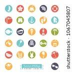 vector collection of summer... | Shutterstock .eps vector #1067045807