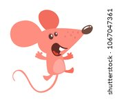 cute cartoon mouse dancing.... | Shutterstock .eps vector #1067047361