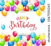 text happy birthday on white... | Shutterstock .eps vector #1067050265