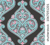 beautiful turquoise and pink... | Shutterstock .eps vector #1067051201