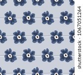 seamless pattern with blue... | Shutterstock .eps vector #1067051264
