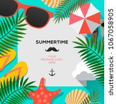 summertime background with... | Shutterstock .eps vector #1067058905