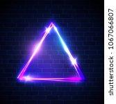 night club neon light border on ...   Shutterstock .eps vector #1067066807