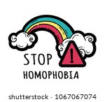 stop homophobia  a print with... | Shutterstock .eps vector #1067067074