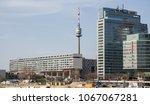 danube tower donauturm office... | Shutterstock . vector #1067067281