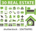 real estate icons set  vector | Shutterstock .eps vector #106706981