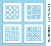 templates for laser cutting ... | Shutterstock .eps vector #1067070011