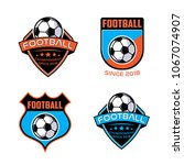 football soccer  badges design... | Shutterstock .eps vector #1067074907