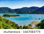 view of shute harbour  islands...   Shutterstock . vector #1067083775