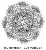 mandala. arabesque. round... | Shutterstock .eps vector #1067088314