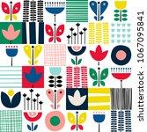 folk art pattern in... | Shutterstock .eps vector #1067095841