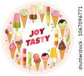 ice cream poster. brightly... | Shutterstock .eps vector #1067096771