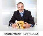 Portrait Of Happy Businessman...