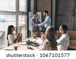 great work   group of business... | Shutterstock . vector #1067101577