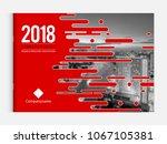 cover design for annual report... | Shutterstock .eps vector #1067105381