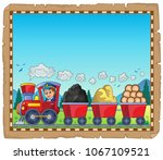 train with various materials... | Shutterstock .eps vector #1067109521