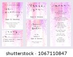 save the date card  wedding... | Shutterstock .eps vector #1067110847