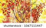 designer oil painting.... | Shutterstock . vector #1067111447