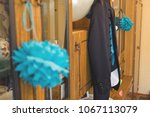 the bridegroom's jacket on the... | Shutterstock . vector #1067113079