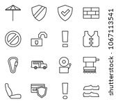 flat vector icon set   umbrella ... | Shutterstock .eps vector #1067113541