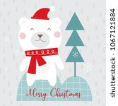christmas greering card with... | Shutterstock . vector #1067121884