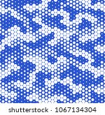 camouflage dotted seamless... | Shutterstock .eps vector #1067134304