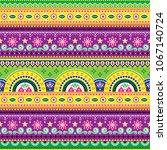 jingle trucks pattern ... | Shutterstock .eps vector #1067140724