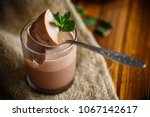 homemade chocolate mousse in a... | Shutterstock . vector #1067142617