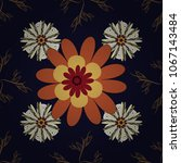 beautiful vector seamless... | Shutterstock .eps vector #1067143484