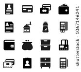 flat vector icon set   hand... | Shutterstock .eps vector #1067146241