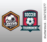 soccer badge  football logo...   Shutterstock .eps vector #1067152277