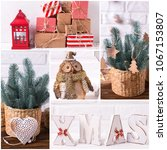 collage from  christmas  and...   Shutterstock . vector #1067153807