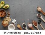 healthy food clean eating ... | Shutterstock . vector #1067167865