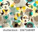 abstract seamless pattern ... | Shutterstock .eps vector #1067168489