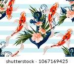 beautiful seamless vector... | Shutterstock .eps vector #1067169425