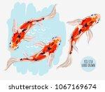 beautiful  vector tropical... | Shutterstock .eps vector #1067169674