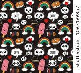 cute seamless pattern for... | Shutterstock .eps vector #1067169857