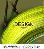 beautiful background with green ... | Shutterstock .eps vector #1067172104