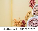 chinese health soup ingredients ...   Shutterstock . vector #1067173289