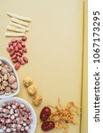 chinese health soup ingredients ...   Shutterstock . vector #1067173295