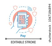 cashless payment concept icon....   Shutterstock .eps vector #1067186894