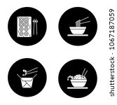 chinese food glyph icons set.... | Shutterstock .eps vector #1067187059