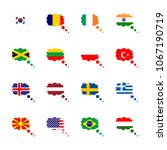 icon flag with indian  flag ...   Shutterstock .eps vector #1067190719