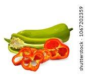 fresh  nutritious  tasty red... | Shutterstock .eps vector #1067202359