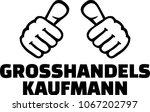 male wholesaler or merchant...   Shutterstock .eps vector #1067202797