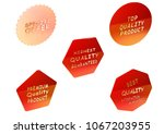 set of sale product badges. 3d...   Shutterstock . vector #1067203955
