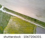 aerial drone view on the road... | Shutterstock . vector #1067206331
